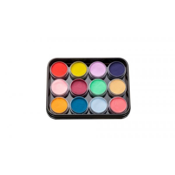 A set ofᅠcoloredᅠacrylic powder 12 pcs.   L-6